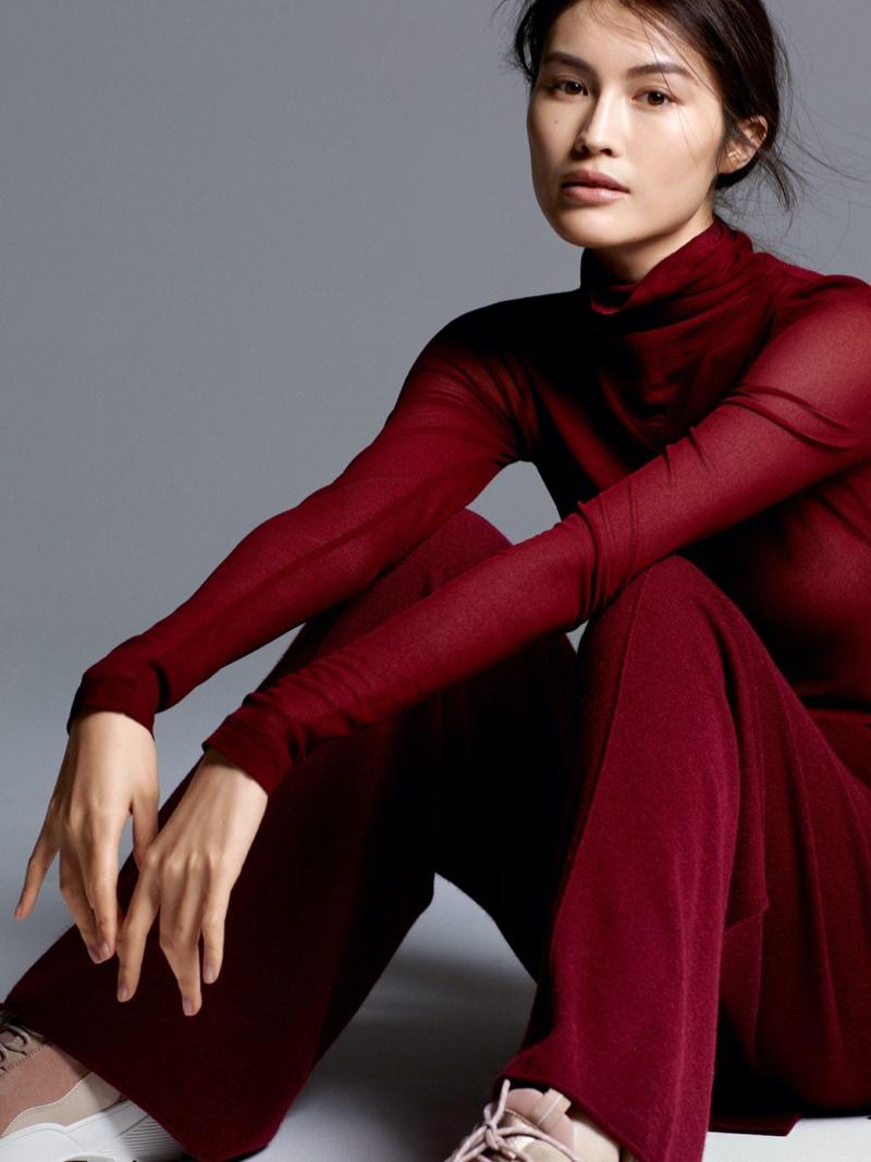 H&M Silk Blend Turtleneck Top and Cashmere Pants