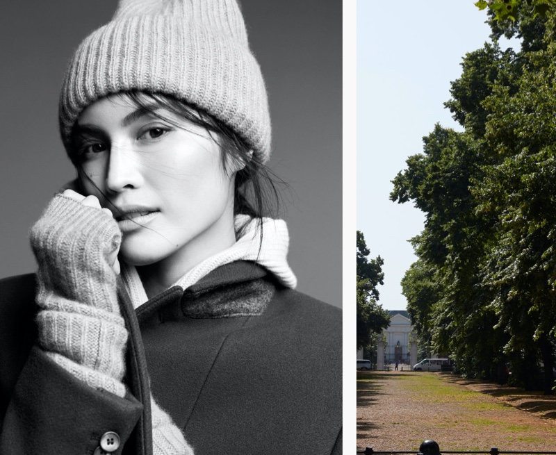 H&M Rib-Knit Cashmere Hat and Wool-Blend Coat