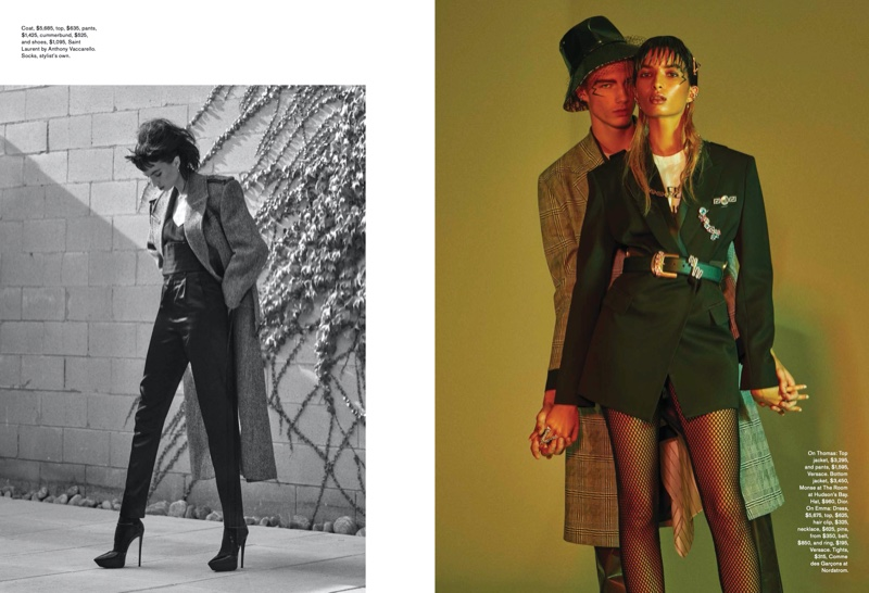 Emma & Thomas Pose in His & Her Suiting Styles for FASHION