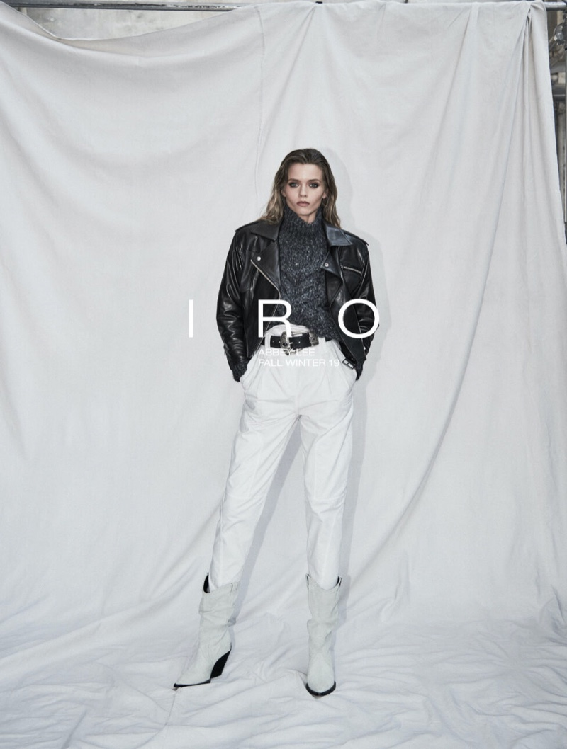 Model Abbey Lee Kershaw fronts IRO fall-winter 2019 campaign
