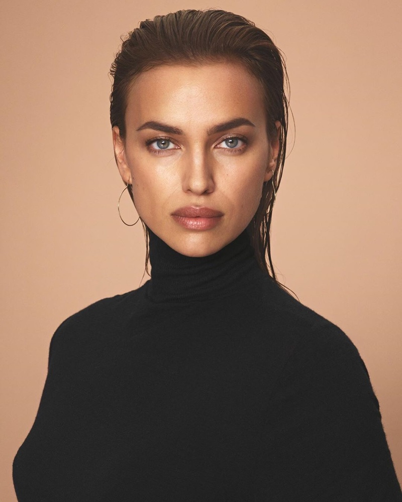Supermodel Irina Shayk wears turtleneck sweater in Intimissimi New Fibers campaign