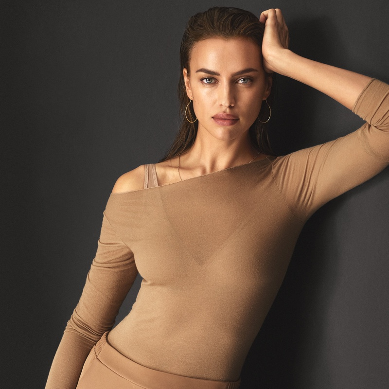 Supermodel Irina Shayk wears lightweight cashmere for Intimissimi New Fibers campaign