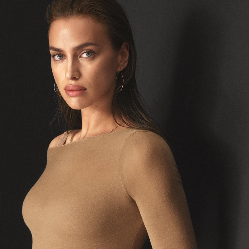 Ready for her closeup, Irina Shayk fronts Intimissimi New Fibers campaign