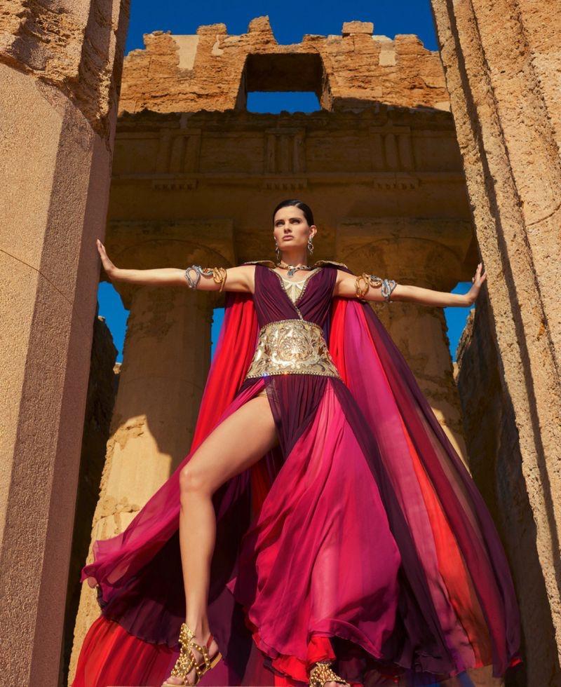 Isabeli Fontana Enchants in Dolce & Gabbana for Harper's Bazaar
