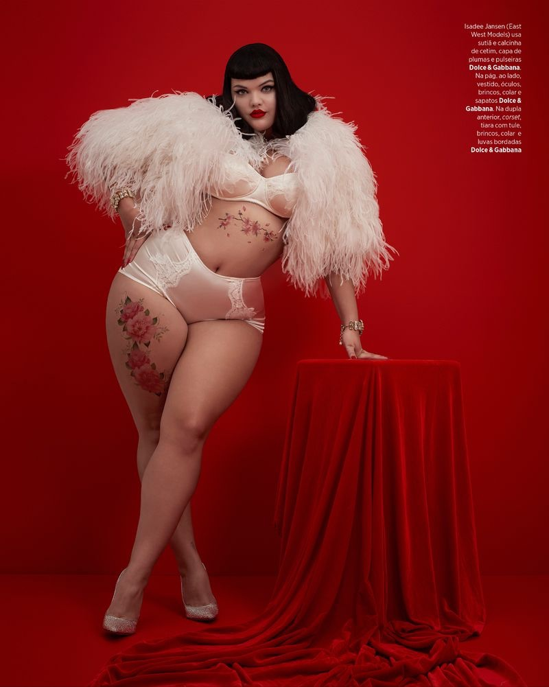 Isadee Jansen Goes Pin-Up in Dolce & Gabbana for Harper's Bazaar Brazil