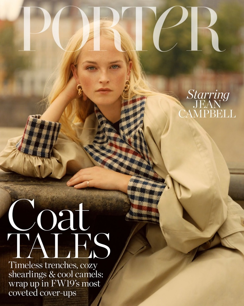 Jean Campbell Poses in Autumn Outerwear for PORTER Edit