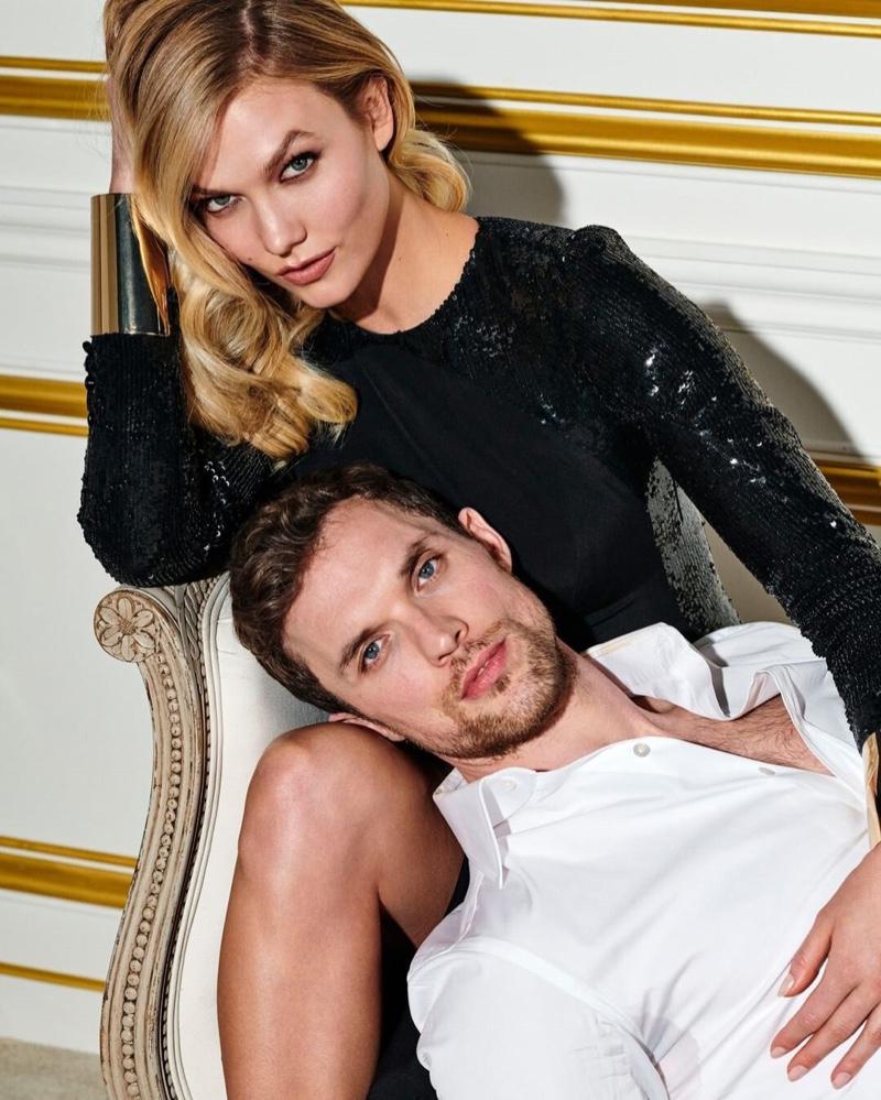 Karlie Kloss and Ed Skrein star in Carolina Herrera Bad Boy fragrance campaign