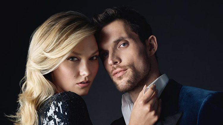 Karlie Kloss and Ed Skrein cozy up for Carolina Herrera Bad Boy fragrance campaign