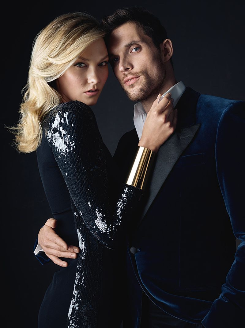 Karlie Kloss and Ed Skrein cozy up for Carolina Herrera Bad Boy fragrance campaign