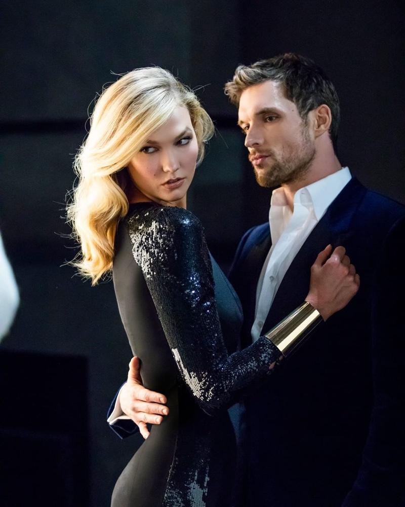Karlie Kloss Joins Ed Skrein for Carolina Herrera 'Bad Boy' Fragrance