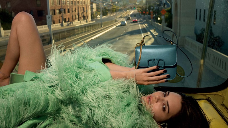 Model Kendall Jenner fronts Valentino resort 2020 accessories campaign