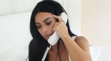 Kim Kardashian Lounges in SKIMS' Cotton Collection