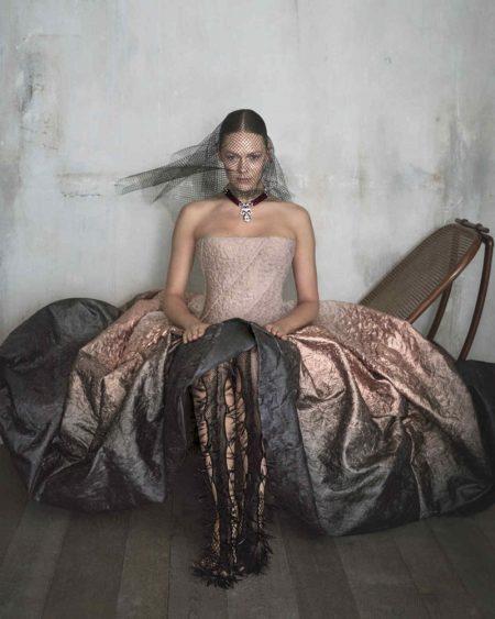 Kinga Rajzak Models Haute Couture Dresses in How To Spend It Magazine