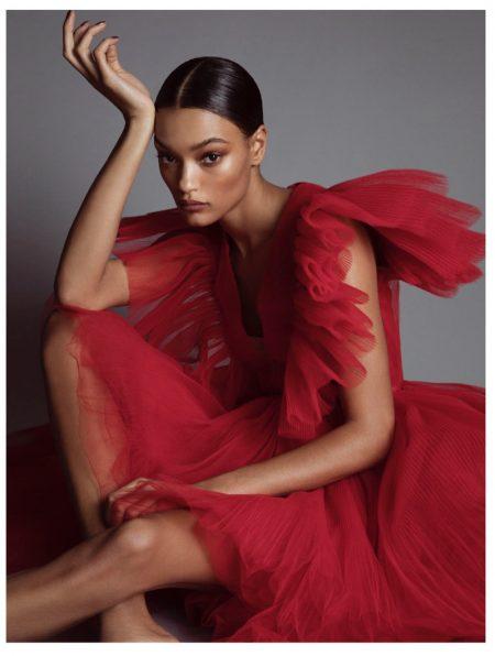 Lameka Fox Models Glamorous Looks for Grazia Australia