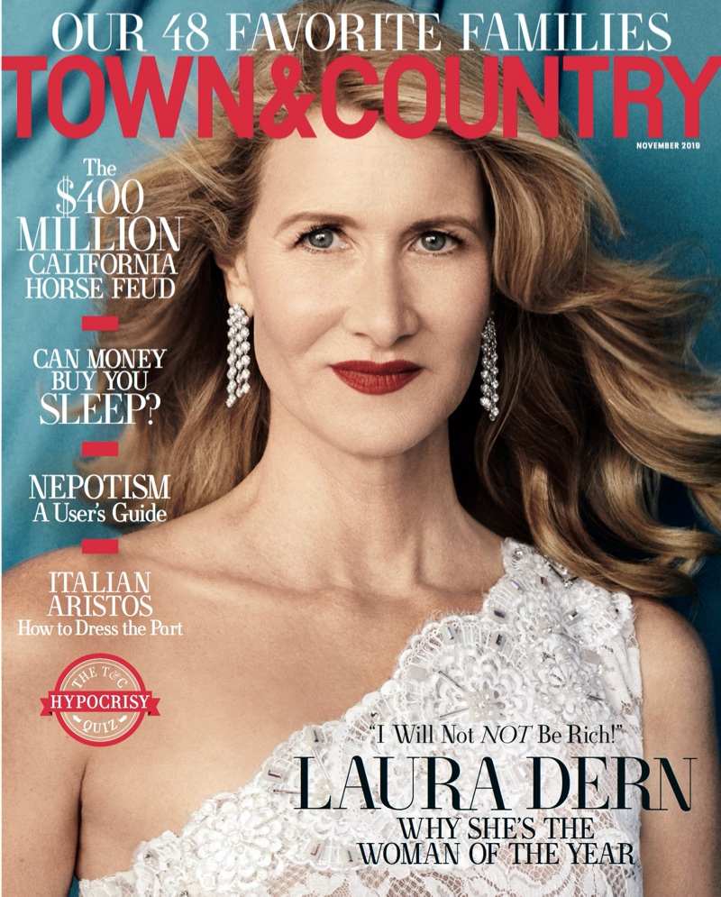 Laura Dern on Town & Country November 2019 Cover