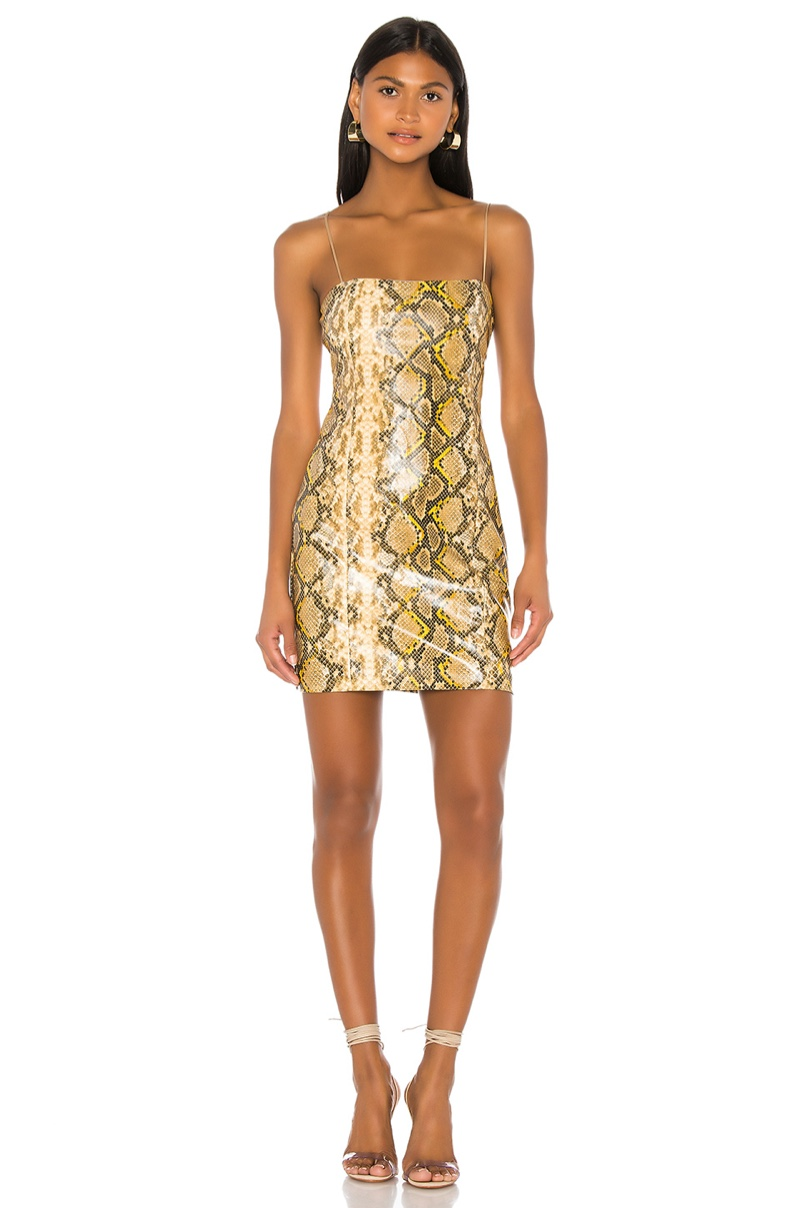 Likely Gold Python Hayley Dress $248