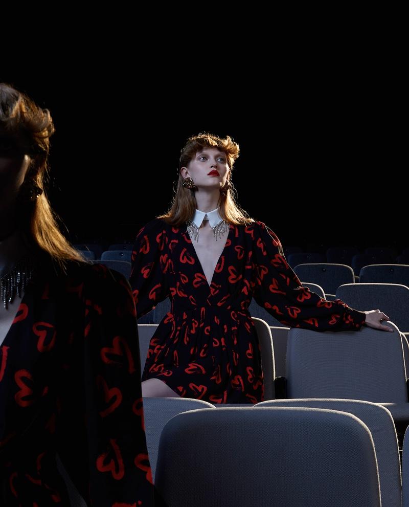 Livka Syroczynska Poses at the Movies for Vogue Italia