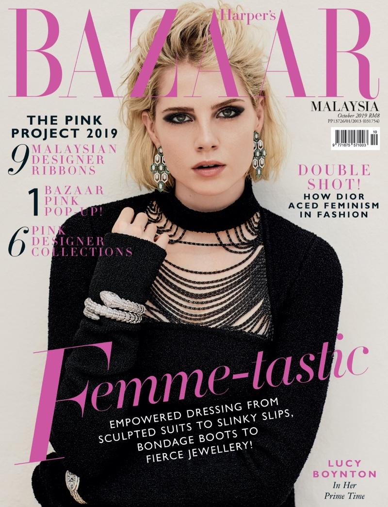 Lucy Boynton on Harper's Bazaar Malaysia October 2019 Cover