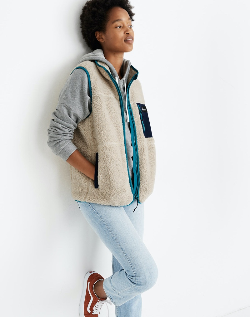 Penfield Mattawa Sherpa Fleece Vest $145