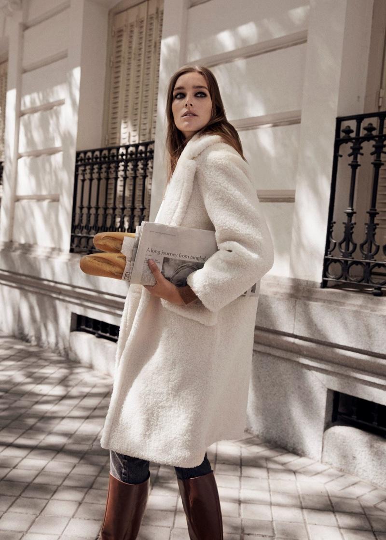 Josephine le Tutour stars in Mango Colder Days fall-winter 2019 editorial