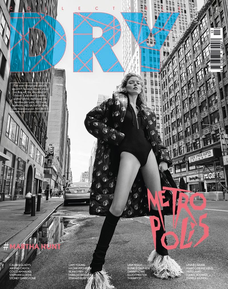 Martha Hunt Models Futuristic Fashion for Collectible Dry