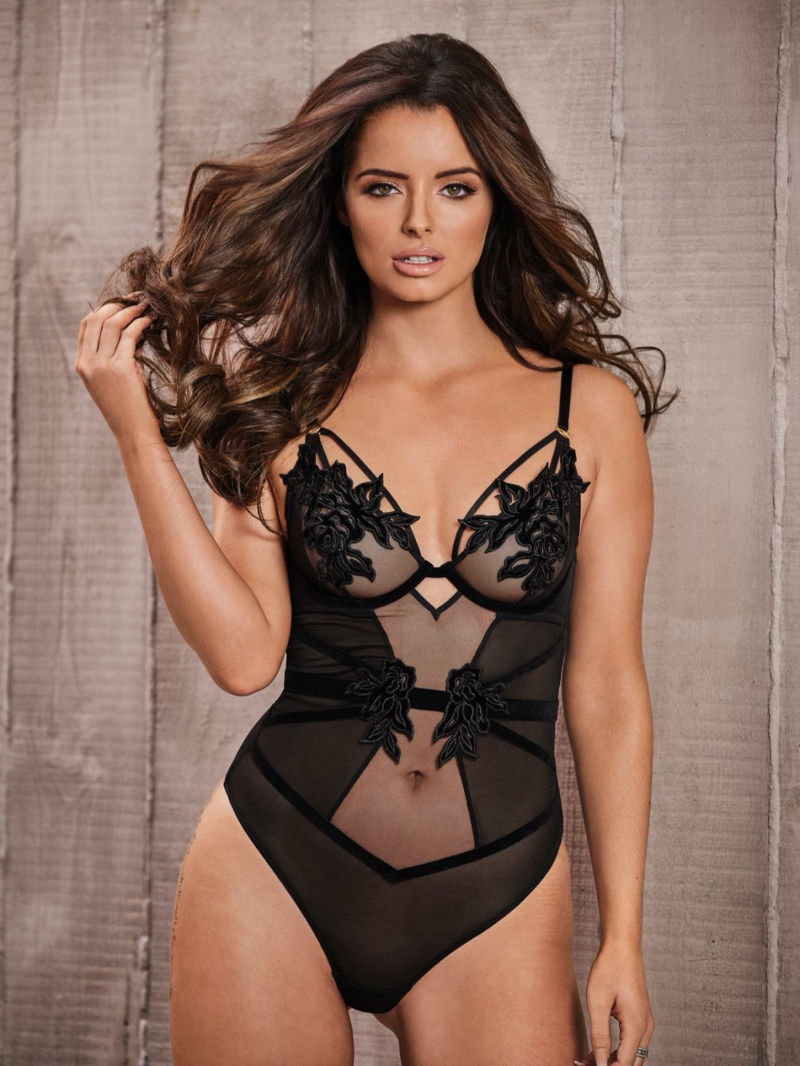 Maura Higgins models lace bodysuit for Ann Summers winter 2019 campaign