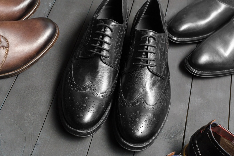 Mens Dress Shoes Closeup
