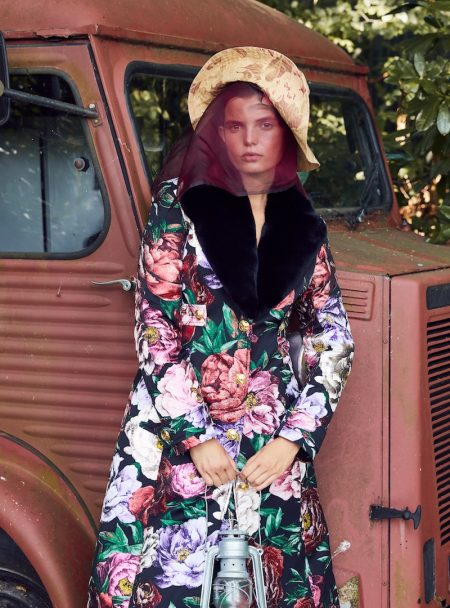 Michelle Van Bijnen Poses in Romantic Looks for InStyle Germany