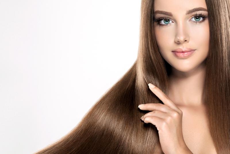 Model Brown Long Hair Beauty