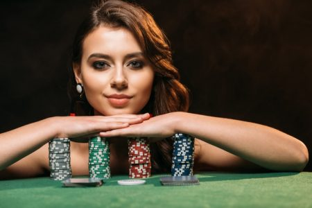 Model Chips Casino Closeup