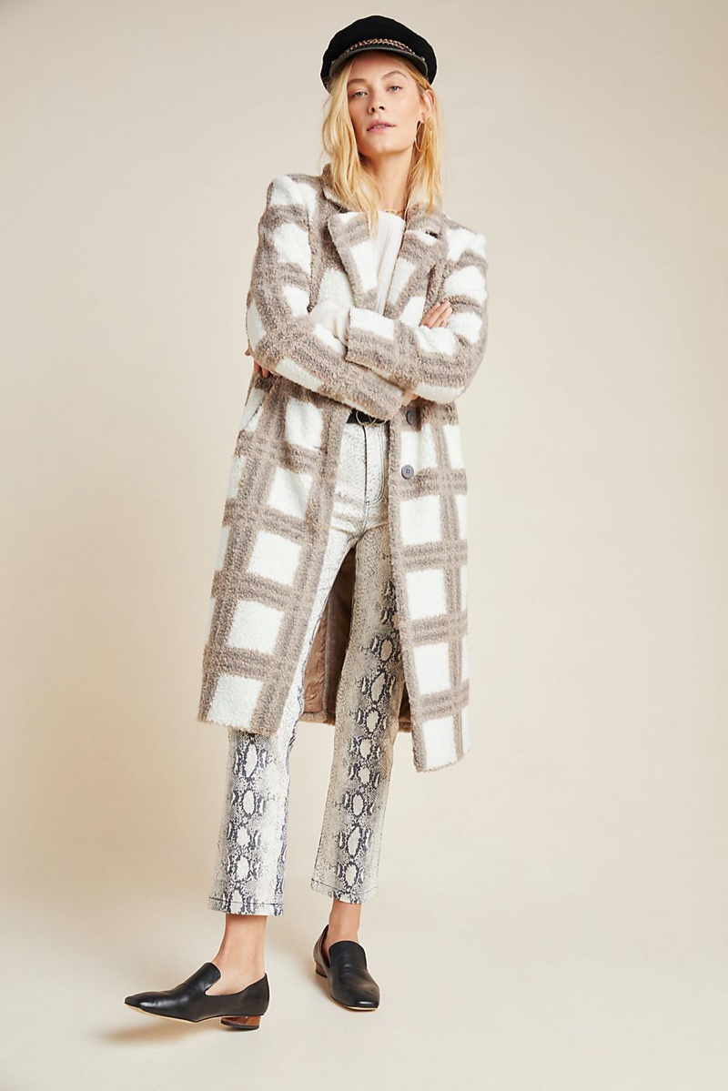NVLT Carter Plaid Teddy Coat $250