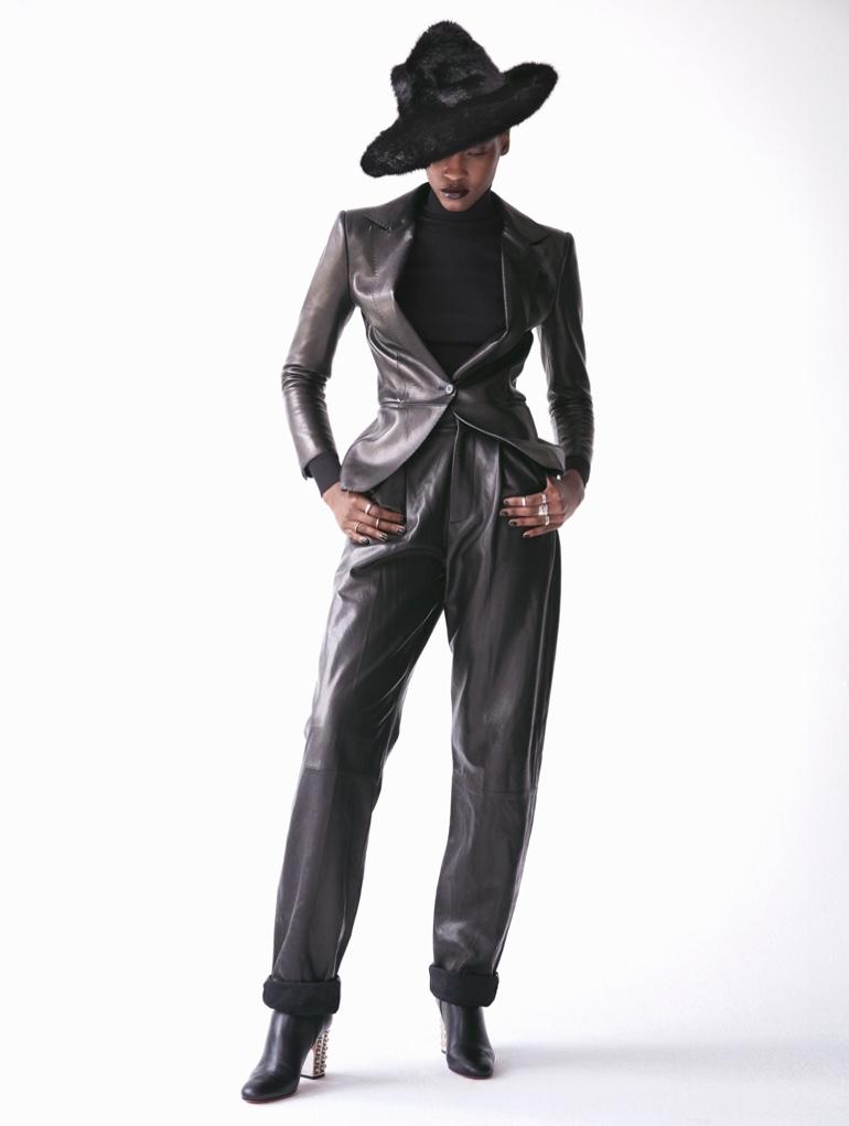 Nayara Oliveira Models Sleek Looks for Mojeh Magazine