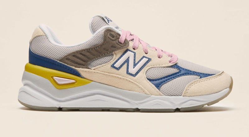 New Balance x Reformation X90 Sneakers in White/Blue $100