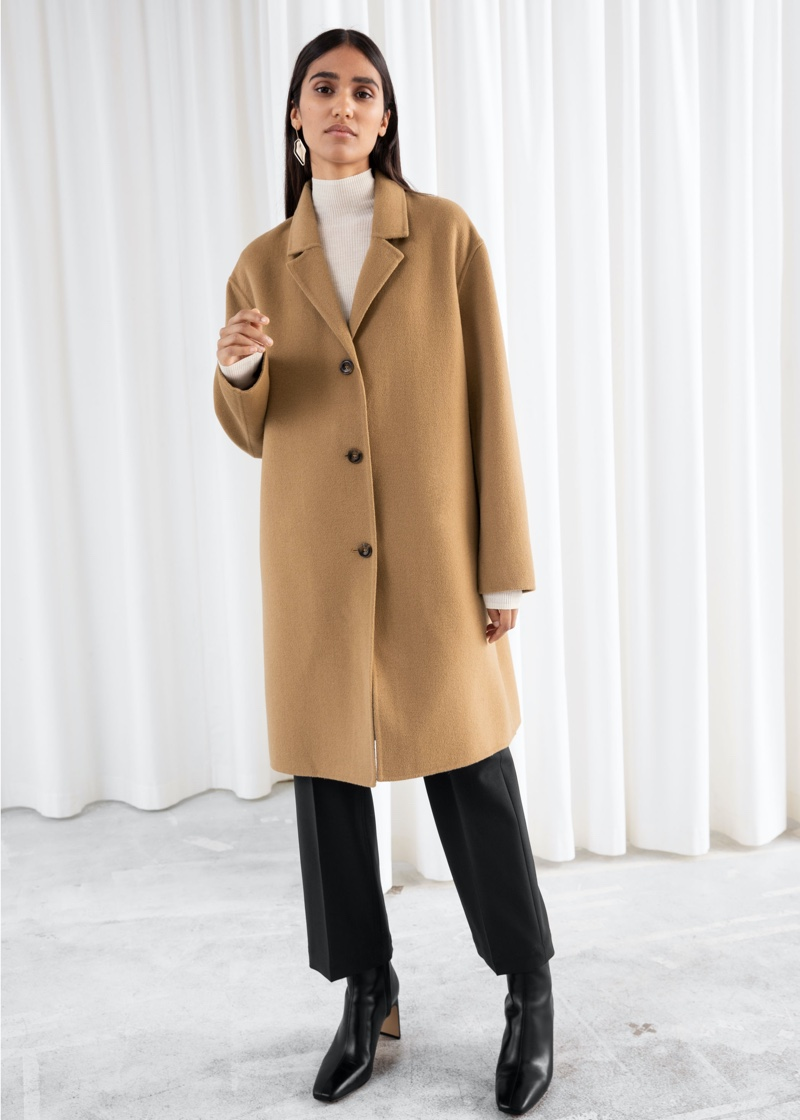 & Other Stories Relaxed Wool Blend Coat $219