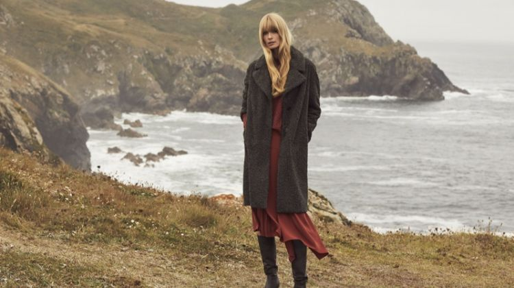 Julia Stegner layers up in Pedro del Hierro winter 2019 campaign