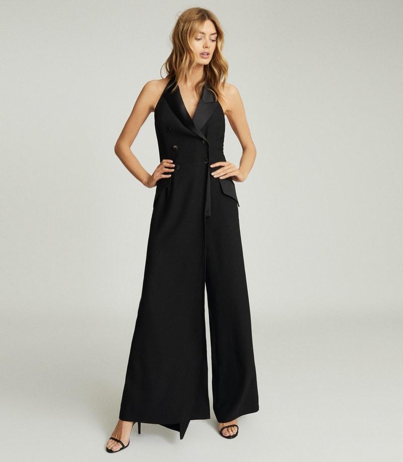REISS Annie Tuxedo Front Jumpsuit $425