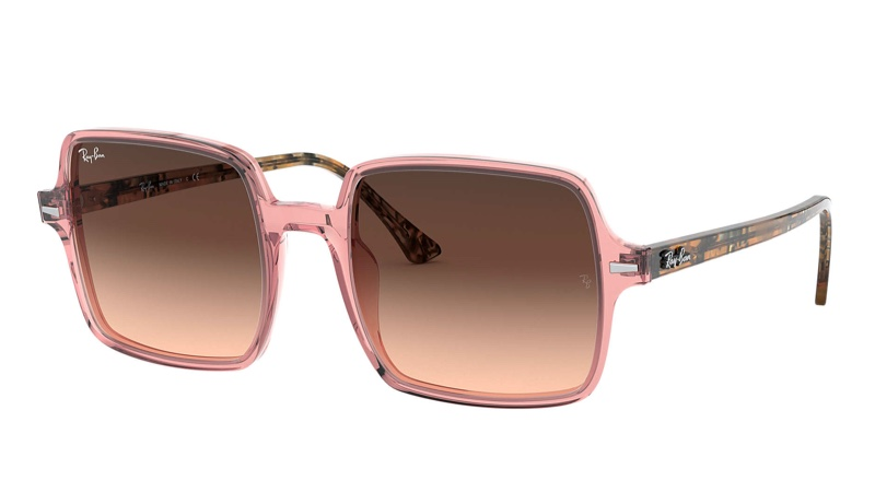 Ray-Ban Square II in Pink Brown Gradient Sunglasses $178
