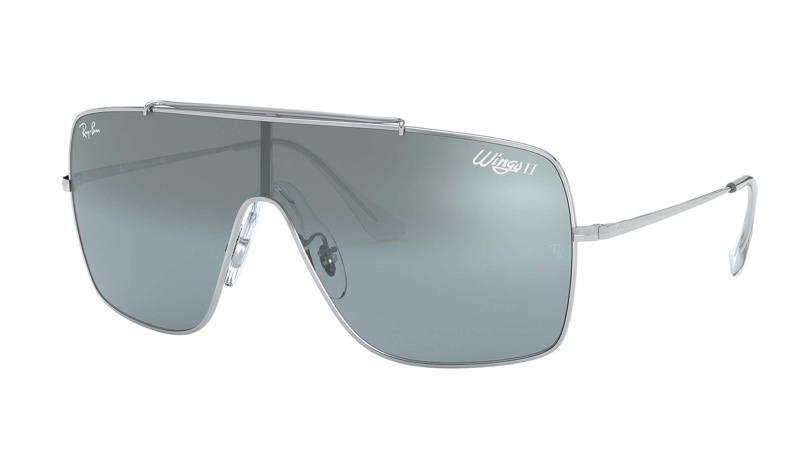 Ray-Ban Wings II Sunglasses in Light Blue/Silver Gradient Mirror $198