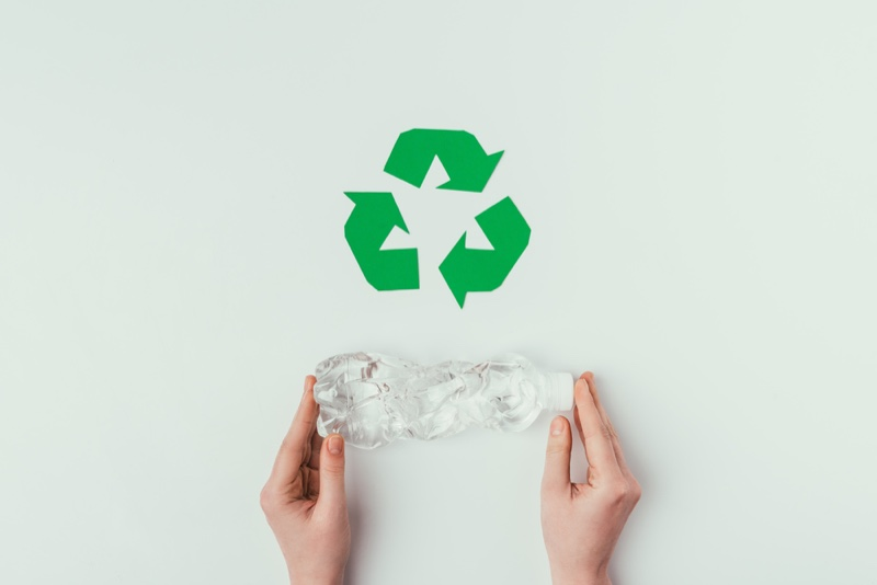 Recycling Sign Plastic Bottle Hands