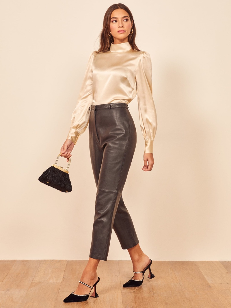 Reformation Cielo Top in Ivory $148