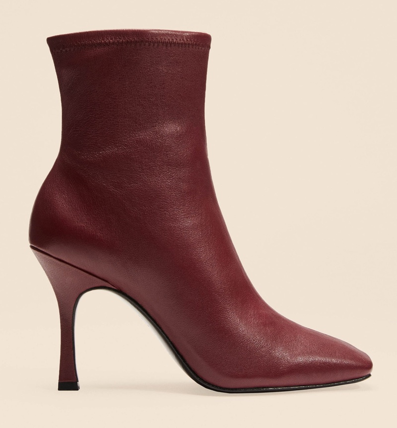 Reformation Evelyn Boot in Burgundy $298