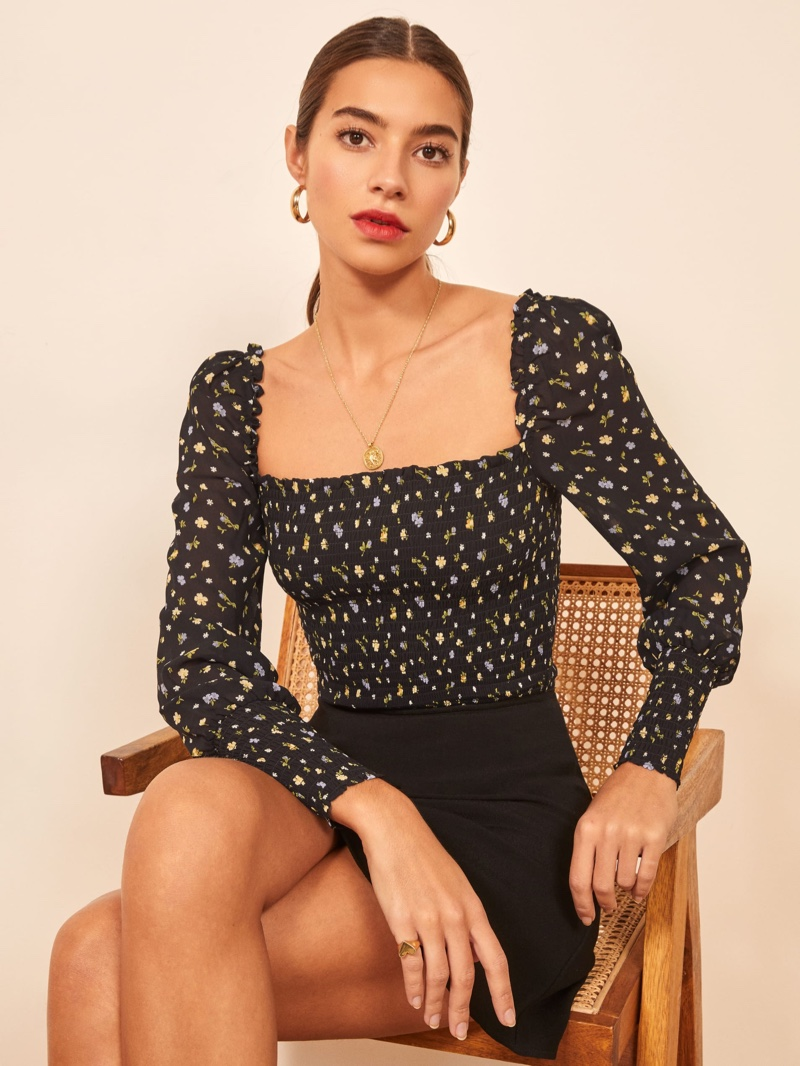 Reformation Pinto Top in Posie $148