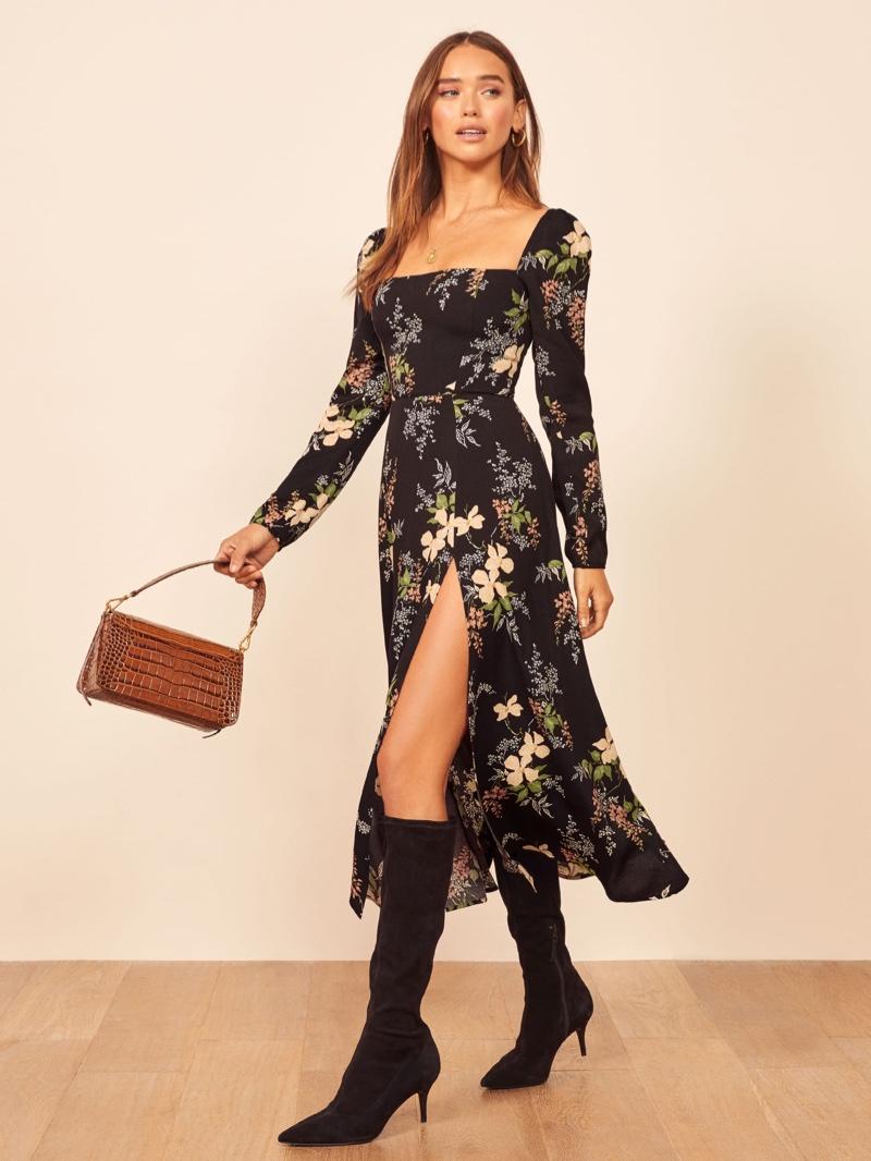 Reformation Sigmund Dress in Isabella $248