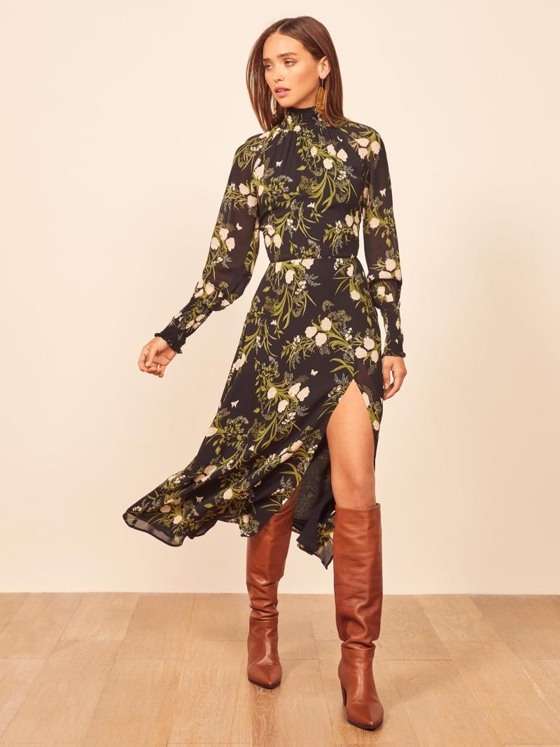 Reformation Valentin Dress in Anastasia $248