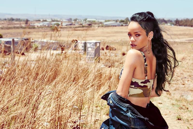 Rihanna at Safari, Johannesburg, 2013. Photograph: Dennis Leupold
