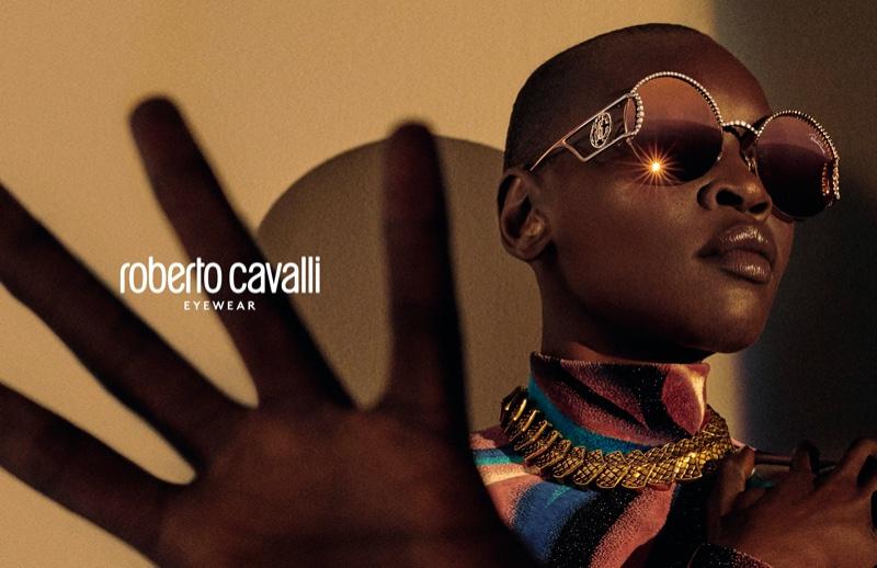 Sunglasses stand out in Roberto Cavalli fall-winter 2019 campaign