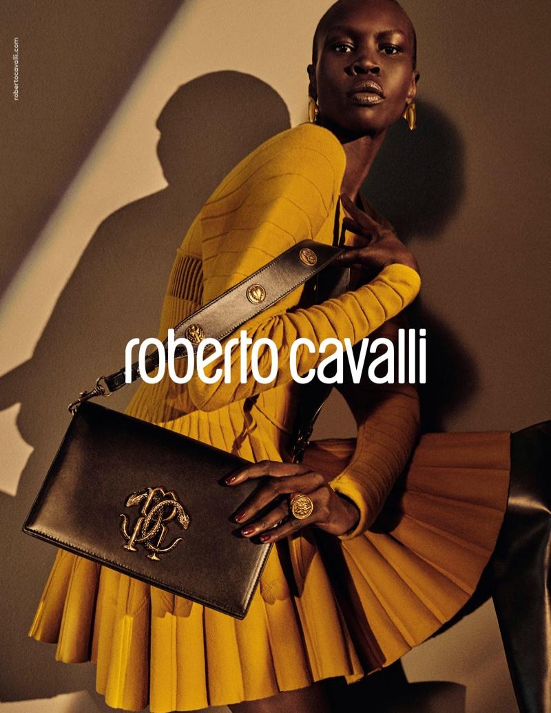 Alek Wek fronts Roberto Cavalli fall-winter 2019 campaign