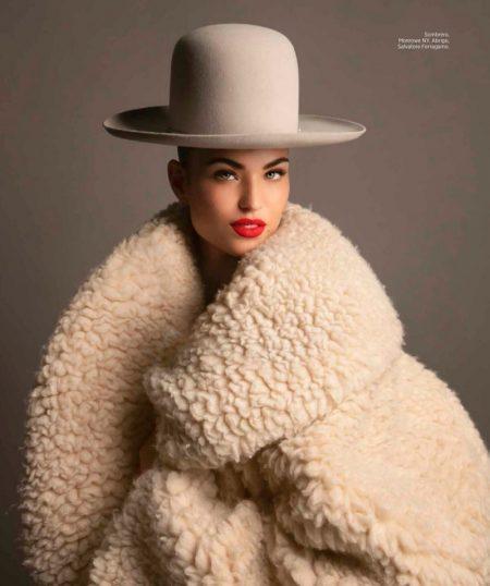 Robin Holzkin Models Elegant Looks for Harper's Bazaar Mexico