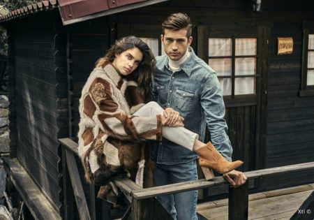 Sara Sampaio Poses in Nature for XTI Shoes Fall '19 Campaign