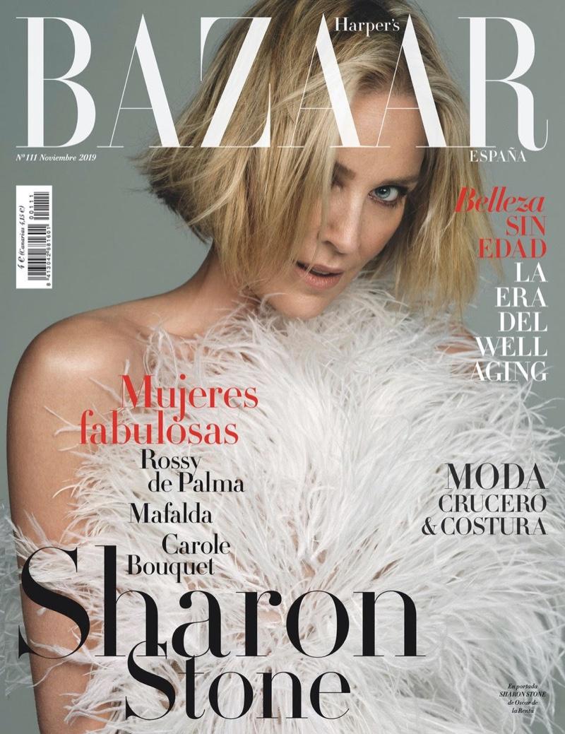 Sharon Stone on Harper's Bazaar Spain November 2019 Cover